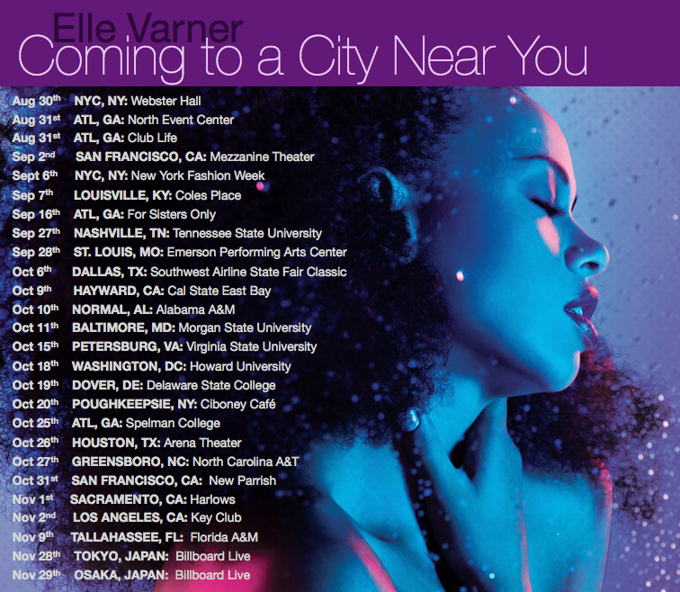 Elle Varner Tour Dates Flyer