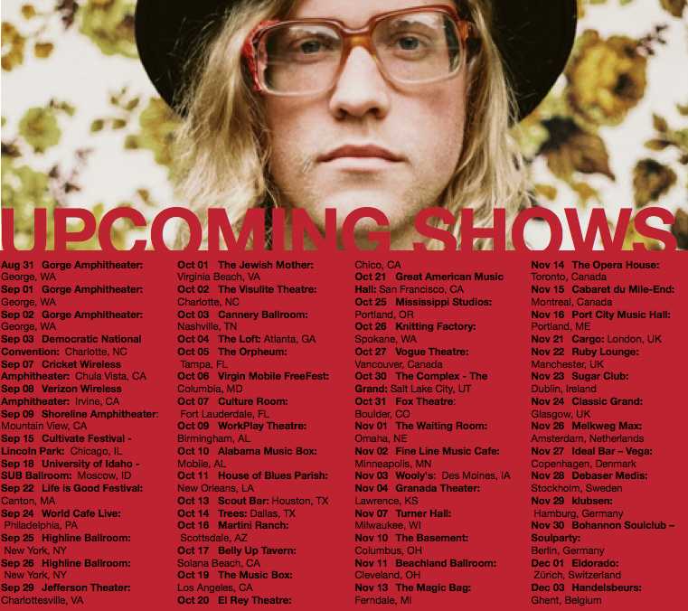 Allen Stone Upcoming Shows Flyer